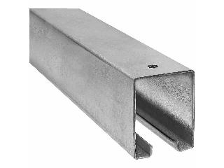 Cox hardware and lumber barn door rail 5116 galvanized for 12 foot barn door track