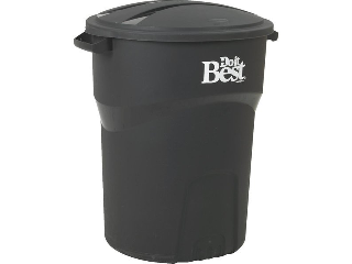 Cox Hardware And Lumber Roughneck Outdoor Black Plastic Trash Can 32 Gallon